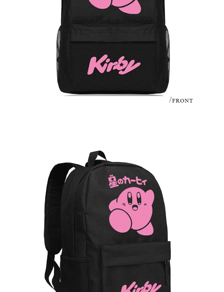 Star Kirby Backpack Cute Kawaii Anime Schoolbag Children Bookbag (4)