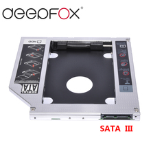 2nd HDD Caddy SATA 3.0 To SATA 2.5″ SSD HDD Case 9.5mm Universal Aluminum Metal Material For Laptop ODD CD-ROM DVD-ROM OptiBay