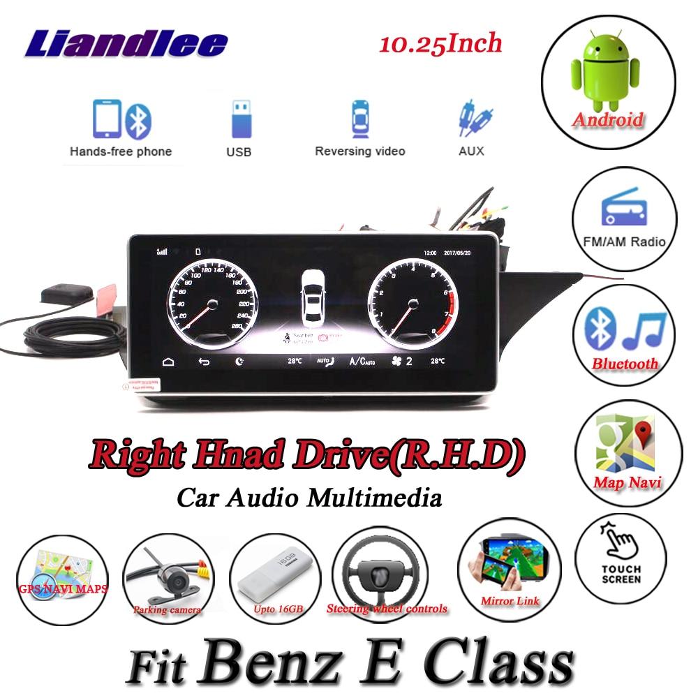 Liandlee For Mercedes Benz E Class W212 Right Hand Drive Original System Radio GPS Navi Navigation Multimedia No CD DVD Player