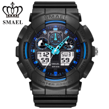 SMAEL Business Fashion Digital font b Watch b font LED Display Electronic Wristwatch Quartz Gentlemen Dress