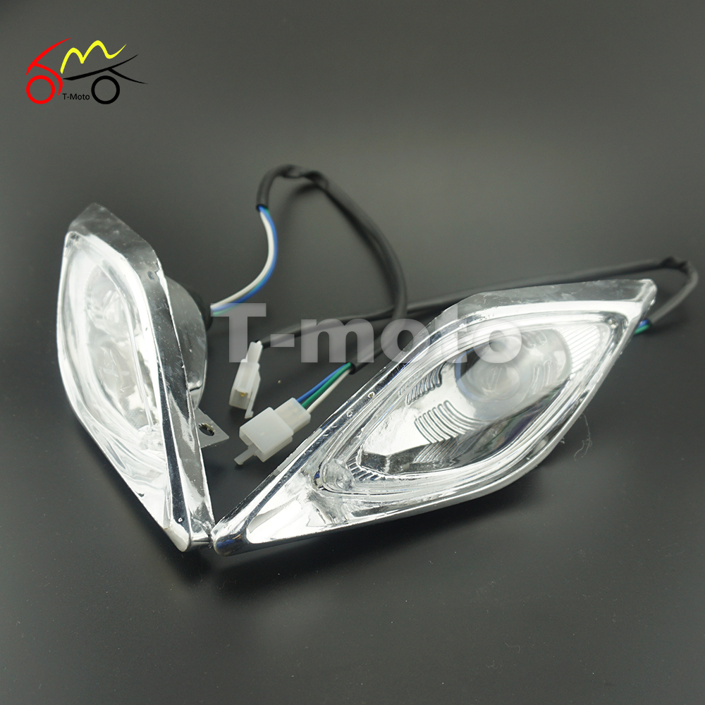 Atv,rv,boat & Other Vehicle 2pcs Motorcycle Atv Quad Head Lights Lamps Headlight For 110cc 125cc 200cc Durable Modeling