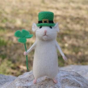 Image 3 - 2019 女性素敵なマウスマウス手作り動物のおもちゃの人形ウール針フェルトつついキッティング DIY ウールキットパッケージ不完成