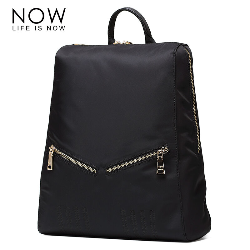 NOW New Arrival Nylon Backpacks For Teenager Girls Fashion Solid Travel Bags Big Capacity Women Casual