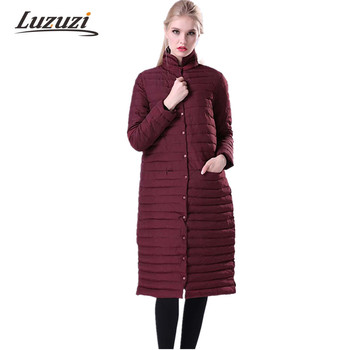 Womens Winter Long Cotton Jackets and Coats Stand Collar Parkas For Women Wadded Parka Feminina Winter Padded Parkas Mujer WS010 Chemisier