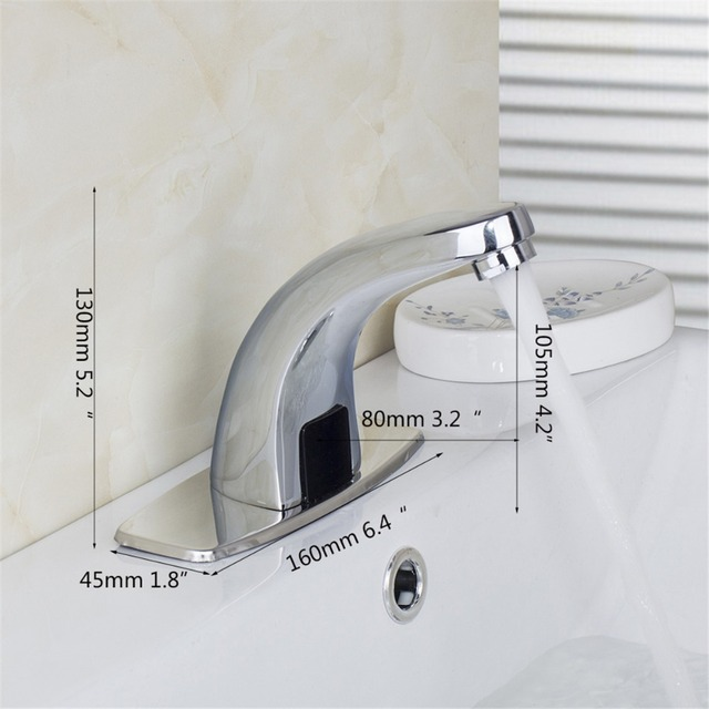 Automatic sensor Hand Wash inductive Kitchen Bathroom Basin Faucet ...