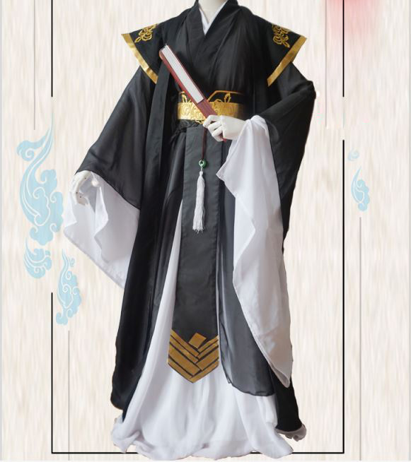 Nie HuaiSang Junior Boy Black Male Cosplay Hanfu For Anime The Founder Of Diabolism Ancient Chinese Male Costume Hanfu