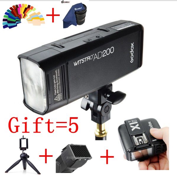Godox AD200 Pocket Flash speedlite High-speed photographic For Canon Nikon Sony 200W TTL Lithium Battery Pack w extra battery godox v860n speedlite i ttl speedlight flash light high speed godox ft 16s wireless trigger kit for nikon dslr