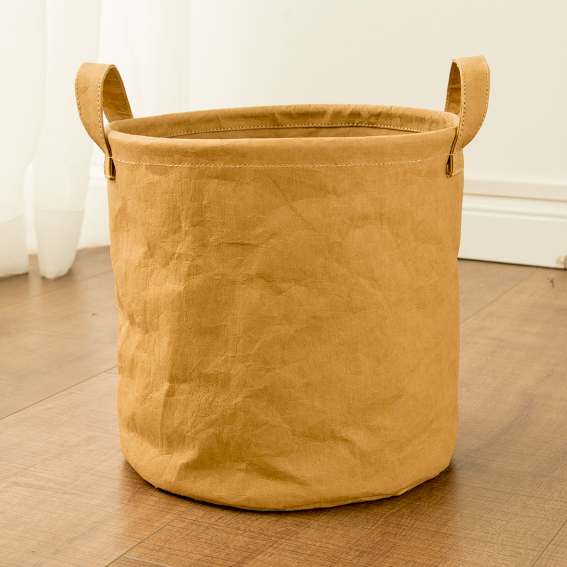 Laundry basket canvas in brown paper 4