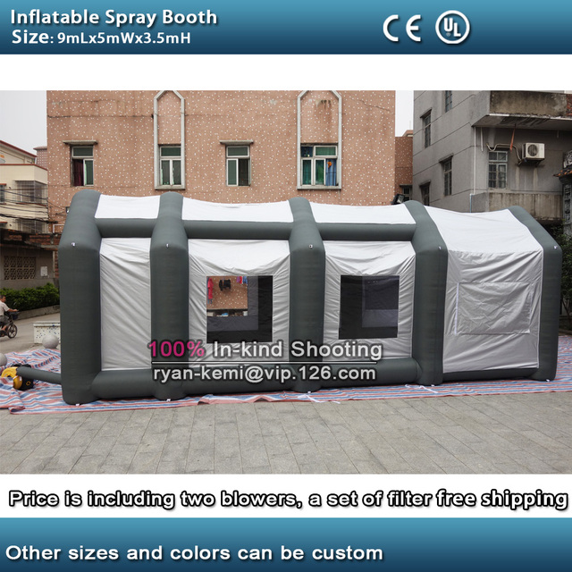 9mLx5mWx3.5mH inflatable spray booth inflatable car paint tent portable outdoor inflatable spray booth with & 9mLx5mWx3.5mH inflatable spray booth inflatable car paint tent ...