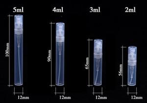 Image 4 - 50 יח\חבילה 2ml 3ml 5ml מיני פלסטיק ריסוס בושם בקבוק Refillable שמן בקבוקי מרסס מיני Protable קוסמטיקה מיכל
