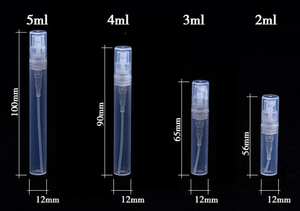 Image 4 - Mini botella de plástico para Perfume, atomizador de botellas de aceite rellenables, Mini contenedor portátil de cosméticos, 2ml, 3ml, 5ml, lote de 50 unidades