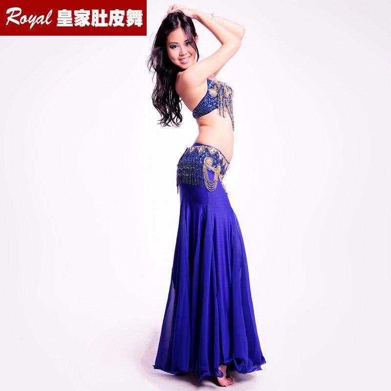 New Slim Belly Dance Suit Professional Bellydance Dress Wear Clothes  Performance Costume Wrap The Hip:BRA&Belt&Skirt