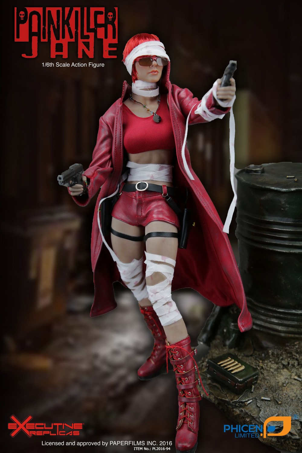 1/6th scale figure Collectible Model plastic toy female Painkiller Jane Seamless body with Metal skeleton 12 Action figure doll 1 6 scale model metal gear solid v the phantom d dog diamond dog about 23cm collectible figure model toy gift