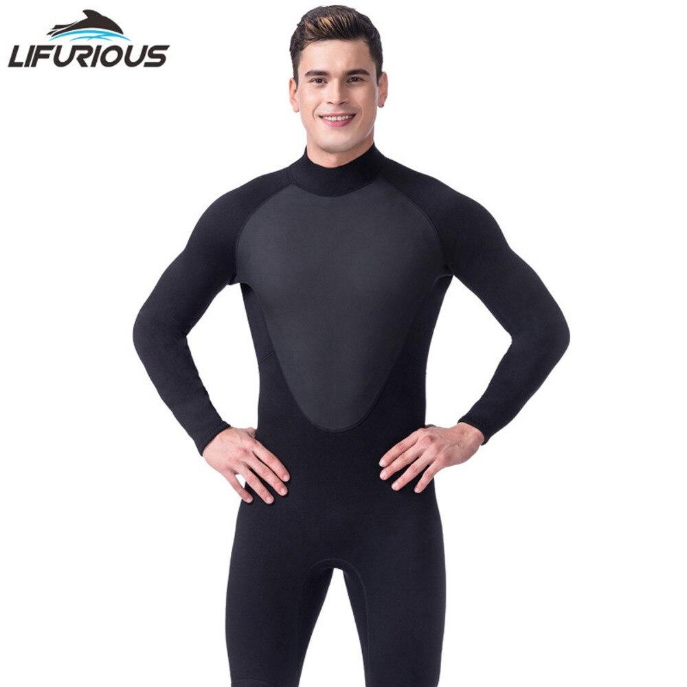 Высокое качество Новый 3 мм прохладный черный Дайвинг Триатлон неопреновый гидрокостюм для плавания Surf мужчин подводное оборудование Разд...