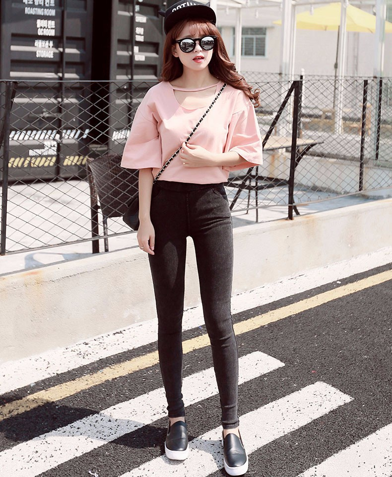 BIVIGAOS Fashion Women Casual Slim Stretch Denim Jeans Leggings Jeggings Pencil Pants Thin Skinny Leggings Jeans Womens Clothing 9