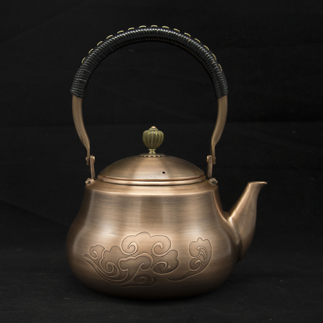 1,2L Handmade Red Copper Teapot