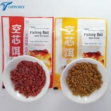 Toppory 1Bag 30g Carp Fishing Bait Crucian Bait Red Worm Aroma Taste Inserted Particle Live Bait GroundBait Ground Bait Additive