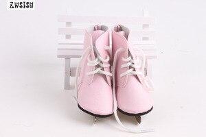Кукла скейт обувь 2 цвета лед скейт лезвие ручной работы для 18 дюймов американская кукла и 43 см Born кукла для поколения девочка игрушка кукла