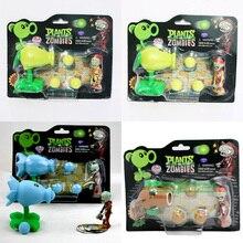 PVZ Растения против Зомби Peashooter ПВХ фигурка модель игрушки подарки игрушки для детей высококачественные игрушки куклы в OPP пакете