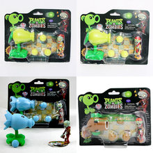 PVZ Plants vs Zombies Peashooter PVC Action Figure Model Toy Gifts Toys Children High Quality Brinquedos Toys doll In OPP Bag(China)