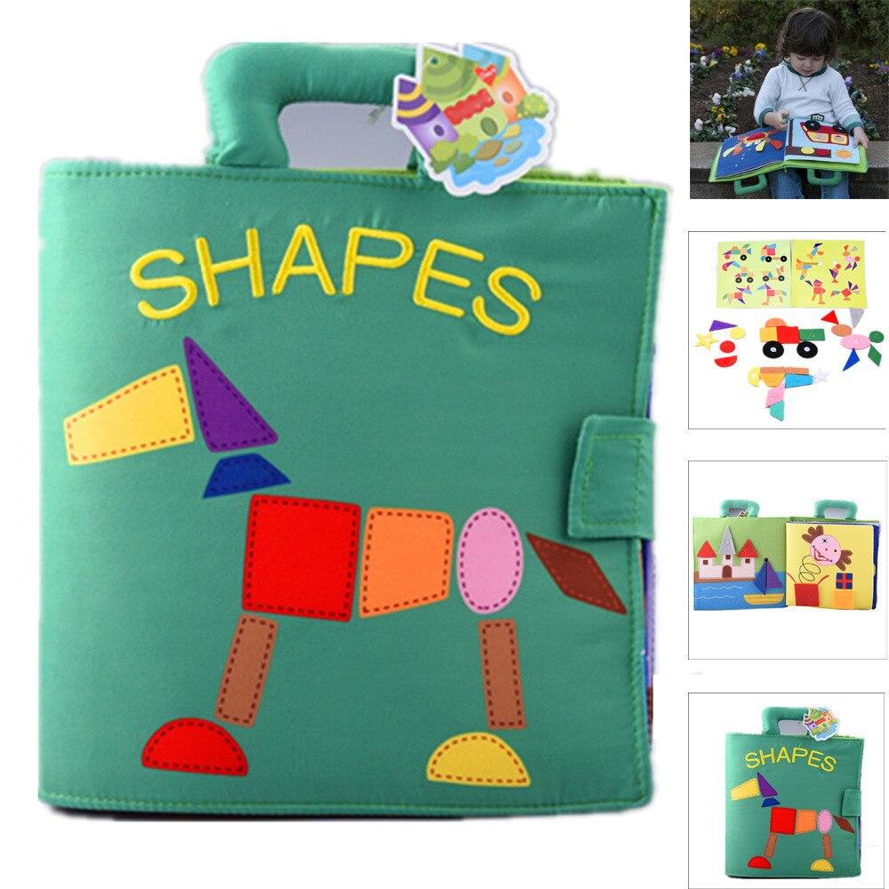 Puzzle Shape Matching Baby Toy Development Books Learning & Education Cloth Book 3~24 Month Child Interest Training JA23b