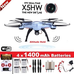 SYMA X5HW Quadrocopter Drone with Camera Wifi FPV HD Real-time 2.4G 4CH RC Helicopter Quadcopter RC Dron Toy (X5SW Upgrade)