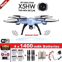 SYMA X5HW Quadrocopter Zangão com Câmera Wi-fi FPV HD Real-time 2.4G 4CH RC Helicopter Quadcopter RC Dron brinquedo (X5SW Upgrade)
