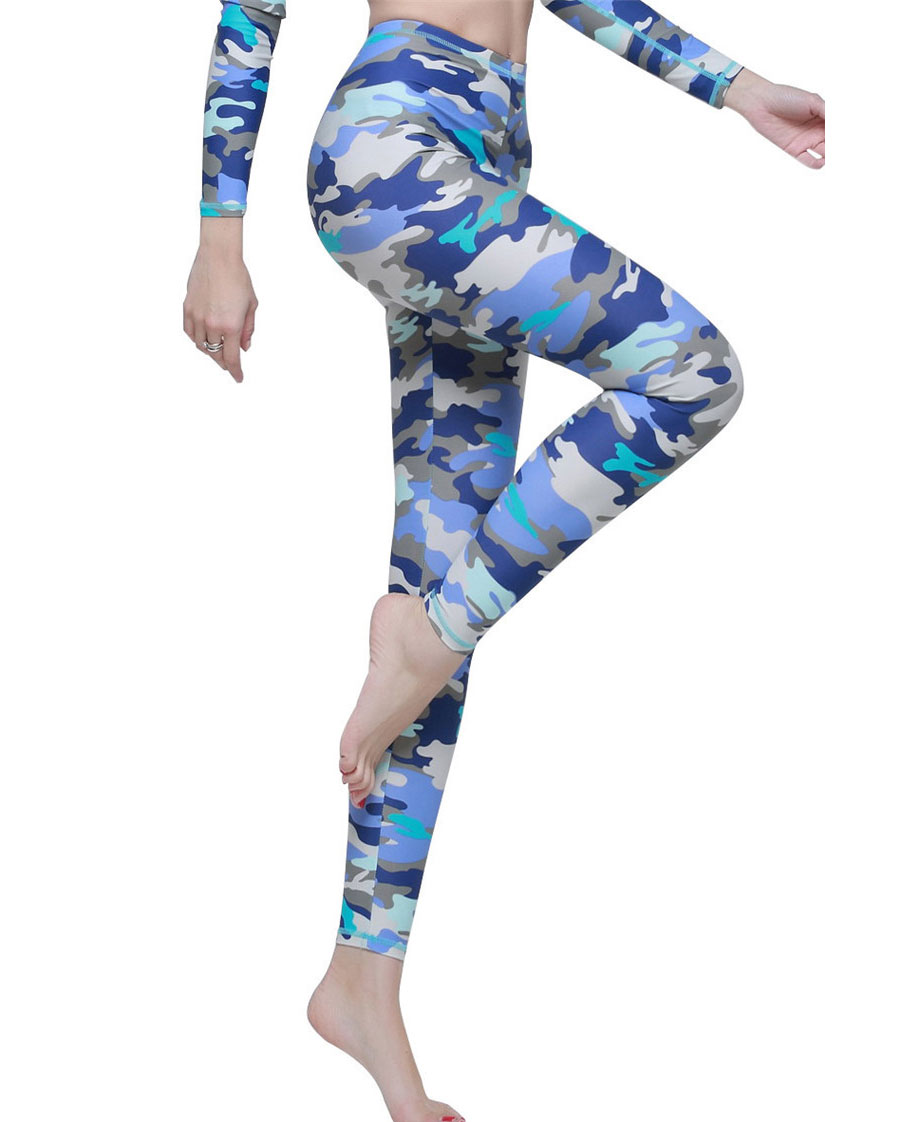 652392abee7f4 Women Swim Top and Tights Full Legs Sun Protective Swimwear Fish Mermaid  Scales Printed Leggings .