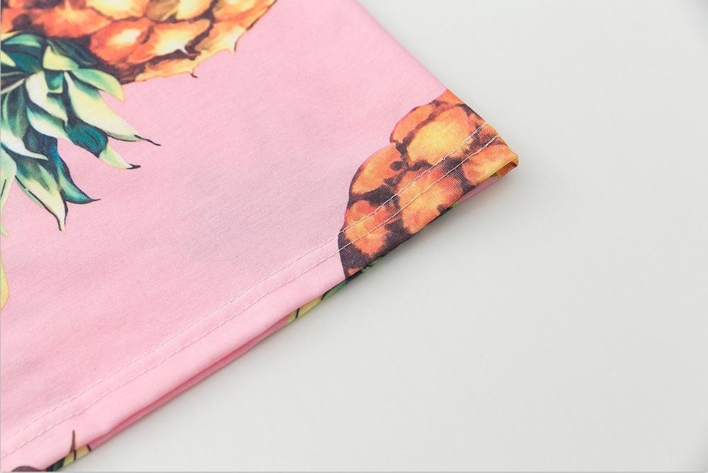 HTB1szzMQVXXXXatXFXXq6xXFXXX2 - Top Hot Sequined Print Pineapple Women t shirt Short Sleeve
