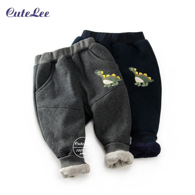 2016 Nuevo Bebé Caliente Pantalones Niños Bebés Pantalones de algodón acolchado Bebé de Invierno Pantalones de Los Niños Pantalones Casuales