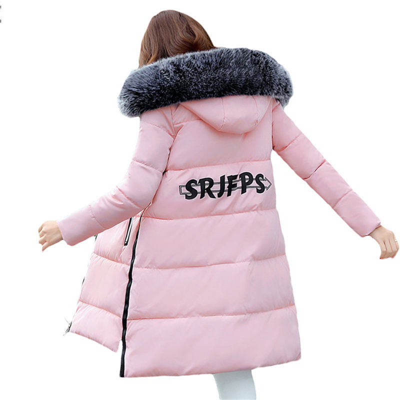 2017 New Winter Faux Fur Collar Cotton Coats Long Hooded Female Jackets Slim Warm Wadded Parka Snow Wear Padded Overcoat FP0063 2017 winter faux fur collar parkas women long cotton coats hooded overcoat slim female jacket warm wadded padded coats fp0023