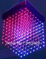 New Arrival sufit 30*30*30cm P3.75cm 8*8*8 = 512 wokseli SMD1616 3 w 1 3D świetlne z kostki LED  wyświetlacz LED dla Disco Party  wystawa w Oświetlenie profesjonalne od Lampy i oświetlenie na