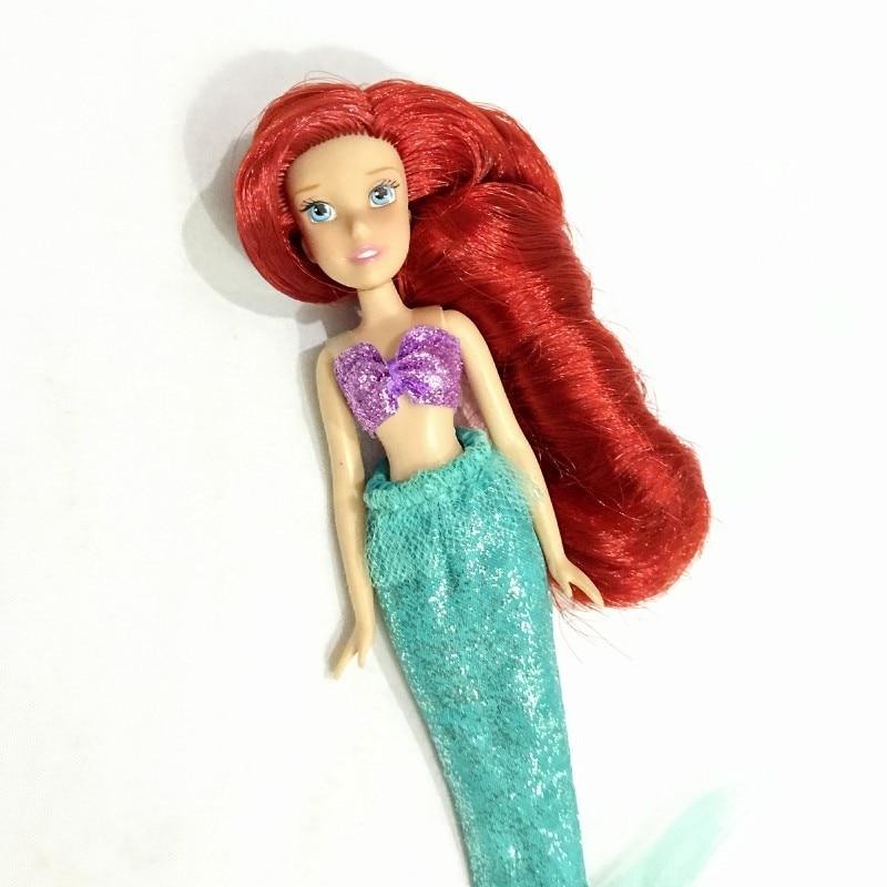 Mermaid Tangled Longhair Princess Tangled Little Princess Small Dollgirl Doll House Children Gifts Cute Girl Straight Red Hair
