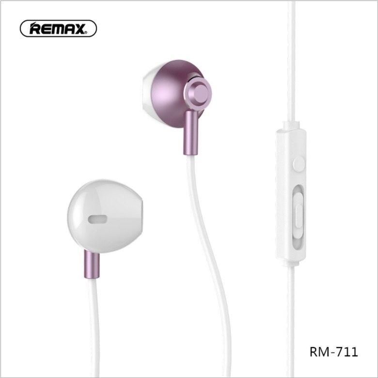 Wired Music Headphones RM-711 Microphone Bass phone headphones In ear earphone for smart