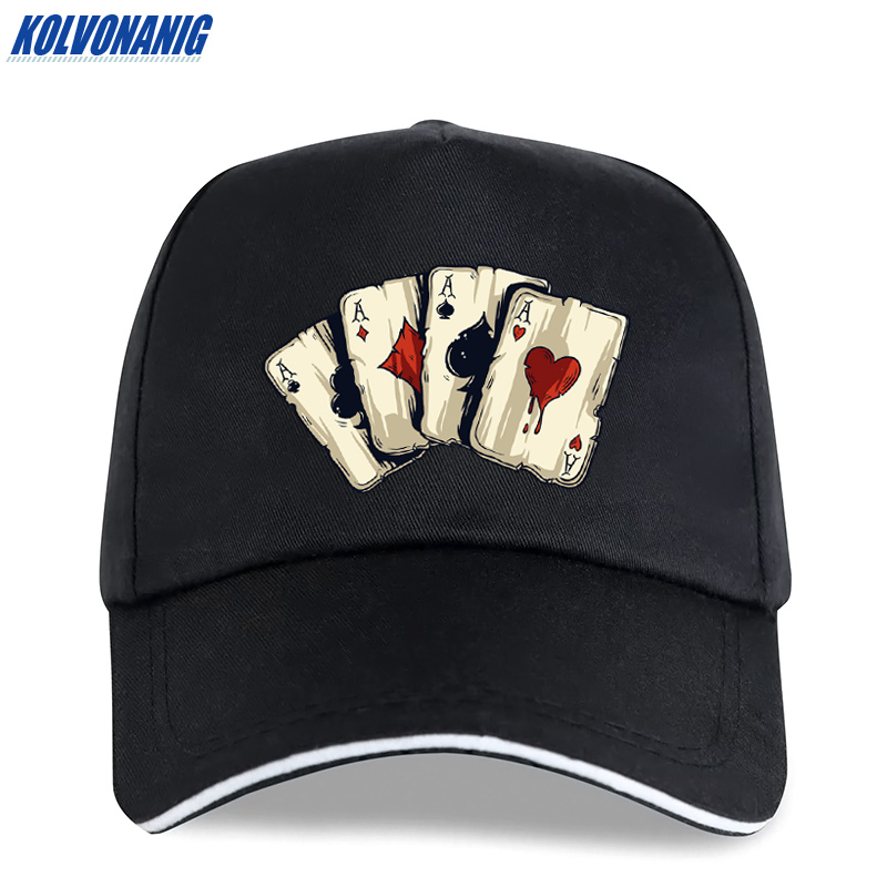 KOLVONANIG Summer Fashion Brand Poker Spades A Interesting Print Men's   Baseball     Caps   Casual hip hop Cotton Women trucker   cap   hat