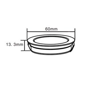 Image 5 - Ultra cienka strona główna kuchnia Led pod szafką oświetlenie 12VDC 3W Mini wpuszczone okrągłe światło ciepły biały zimny biały 5 sztuk/partia
