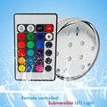 Pilhas de controle Remoto Submersível RGB Conduziu a Luz Subaquática IP68 À Prova D' Água decoração do casamento Da Lâmpada para a Piscina