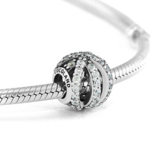 CKK Beads Sparkling Galaxy Charm Original 925 Sterling Silver Fits Pandora Charms Bracelet Necklace Beads for Jewelry Making недорого