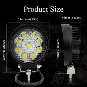 Image 2 - Safego 2 pcs טרקטורונים 4 inch 27 W led עבודת אור מנורת 12 V LED טרקטור עבודה אורות בר ספוט מבול לכביש כביש 4X4 רכב משאית 24 V