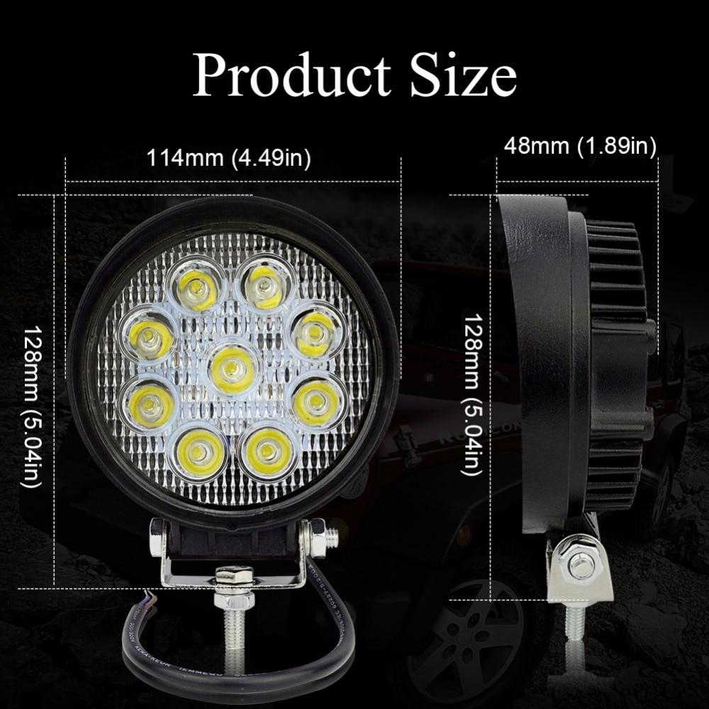 Safego 2 pcs ATV 4 inch 27 W led kerja cahaya lampu 12 V LED traktor - Lampu mobil - Foto 2