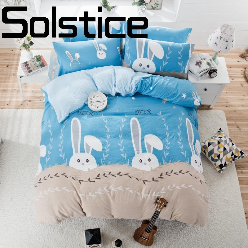 Solstice Home Textile 2018 fashion skin care comfortable cotton thickening and bedding bed linen pillowcase quilt cover 3/4pcs