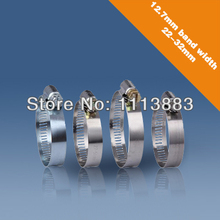 (Band width:12.7mm,Size:22-32mm)Free shipping American type stainless steel hose clamp free shipping 134 2khz 125khz ti hdx 4 32mm 3 85 32mm animal glass tags iso11784 85