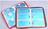 Super Quality 240Slots Nail Stamping Plates Synthetic Leather Holder Case 3Laces Pattern BH000002