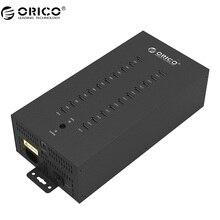 ORICO 20 Puertos USB2.0 HUB Industrial con El Modo de Carga y el Modo de Fecha-Negro (IH20P)
