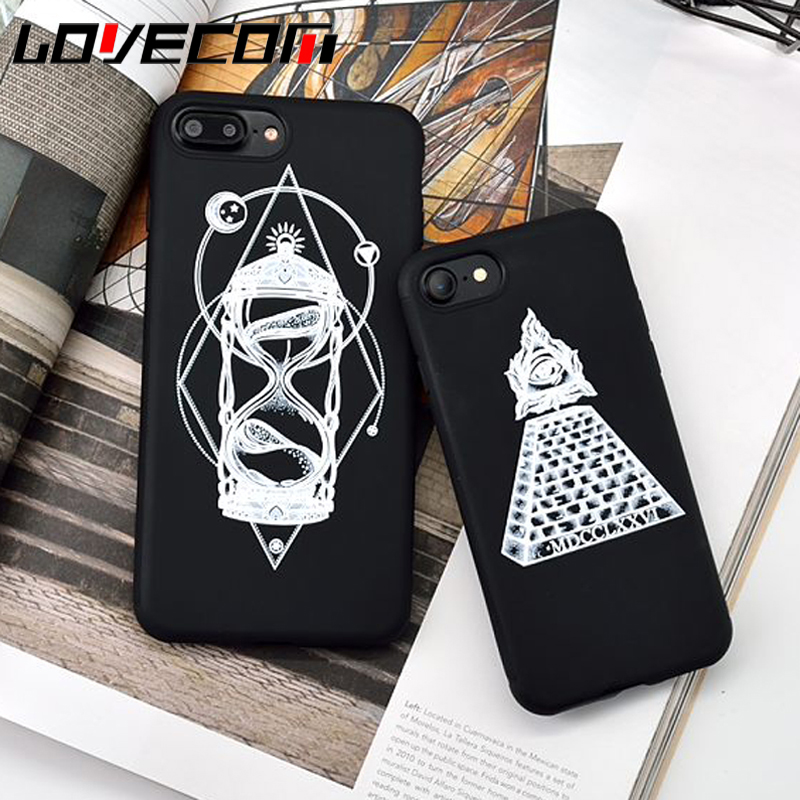 info for f07ab 78e41 Wholesale For iPhone 7 7 Plus 6 6S Plus Phone Cases Black Pyramid &  Hourglass Soft TPU Phone Back Cover Coque Fundas Housing Bag-in Fitted  Cases from ...