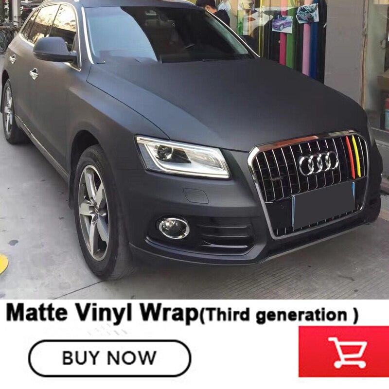 OPLARE Troisième generatio noir Mat Vinyle Autocollant Mat film de vinyle d'enveloppe de voiture avec drains d'air Vinyle Mat Autocollant 1.52*20 m/roll