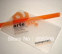 1000pcs/lot 8.5x5.4cm Frosted transparent Visit Card Item no.CU31, Free shipping
