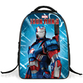 Marvel's The Avengers Cartoon Captain America   Children Backpacks Boys Schoolbag Iron Man bags Printing School Backpack
