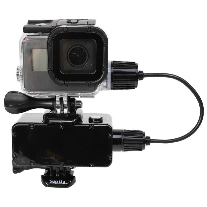 5200mAh Waterproof Power Bank Battery Charger Waterproof Case Housing For GoPro Hero 7 6 5 4 3+ Go Pro Action Camera Accessories