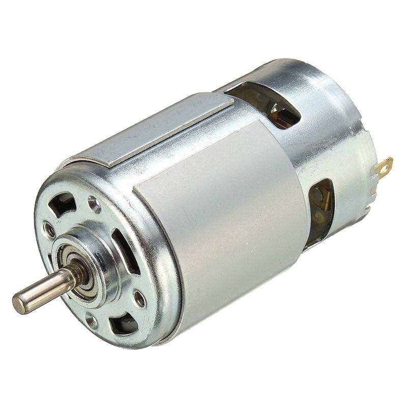 775 DC 12 V-36 V 3500-9000 RPM motor gran par de bolas de alta potencia de poco ruido